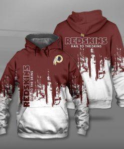 Washington redskins hail to the skins full printing hoodie