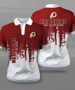 Washington redskins hail to the skins full printing polo