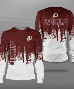 Washington redskins hail to the skins full printing sweatshirt