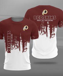 Washington redskins hail to the skins full printing tshirt