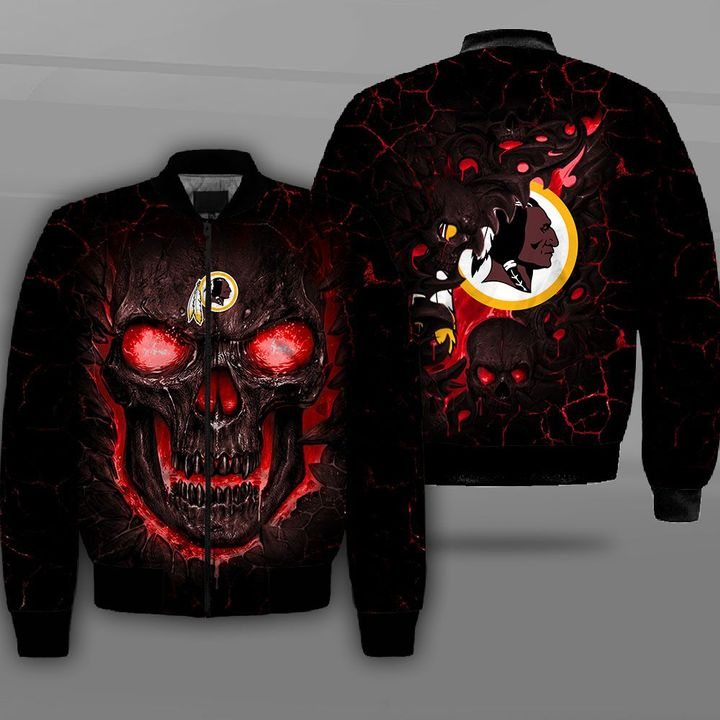 Washington redskins lava skull full printing bomber