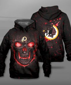 Washington redskins lava skull full printing hoodie