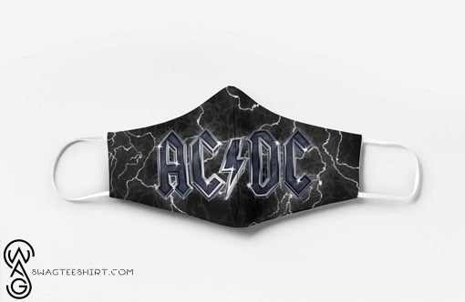 ACDC band full printing face mask