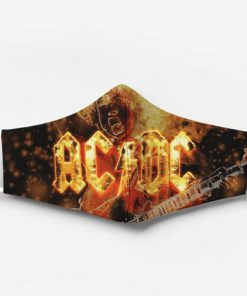ACDC rock band fire full printing face mask 2