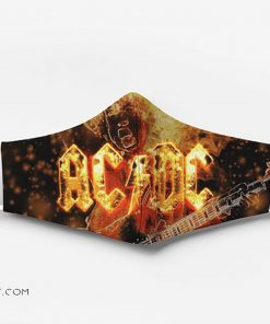 ACDC rock band fire full printing face mask