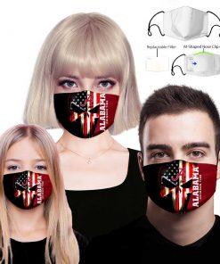 Alabama crimson tide american flag full printing face mask 4