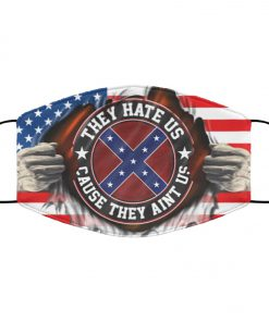 American confederate flag they hate us cause they aint us anti pollution face mask 1