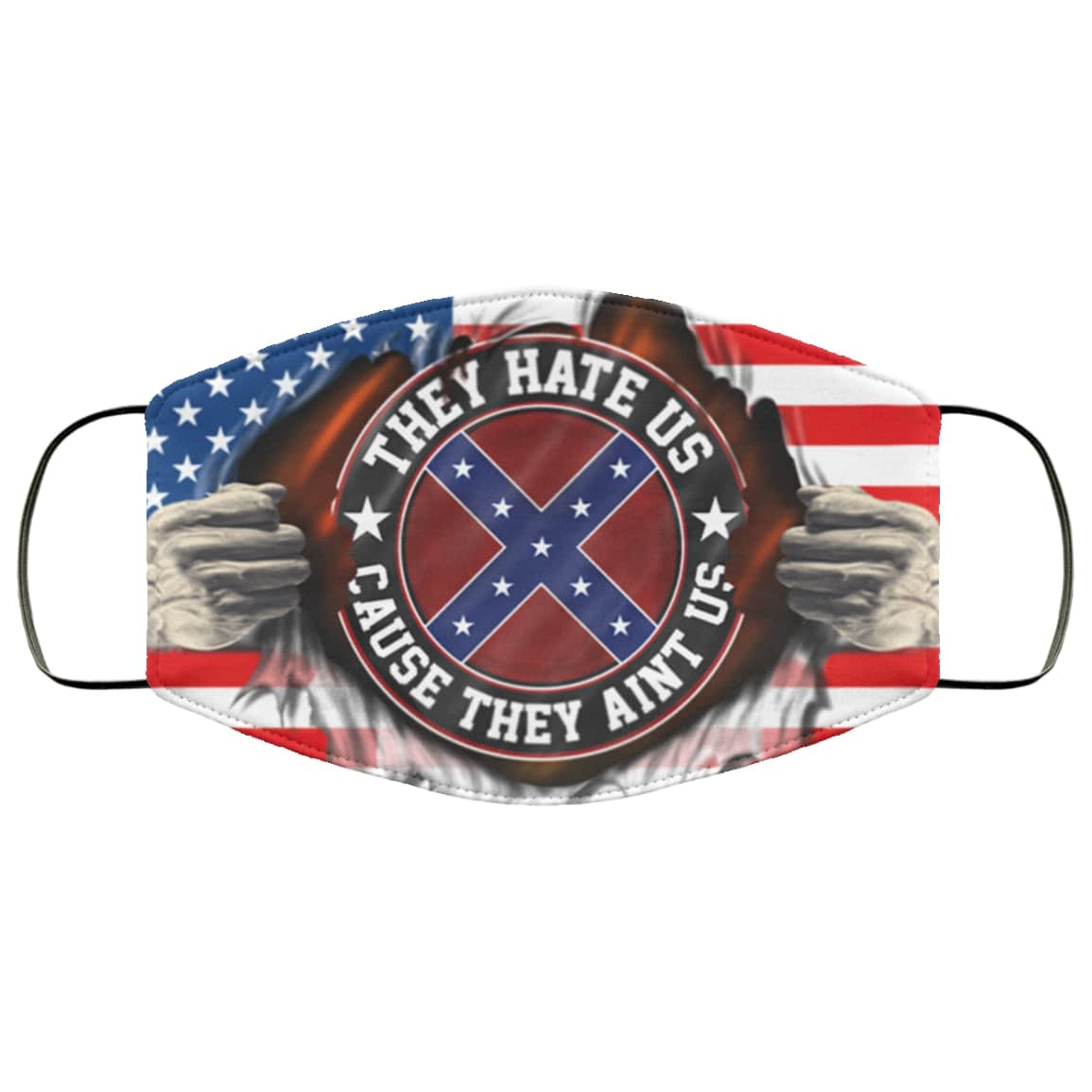American confederate flag they hate us cause they aint us anti pollution face mask 2