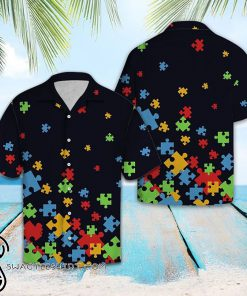 Autism awareness hawaiian shirt