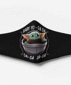 Baby yoda yo da-da-da-da face mask 1