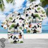 Beach hawaii black cat hawaiian shirt