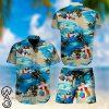 Beach hawaii bulldog hawaiian shirt