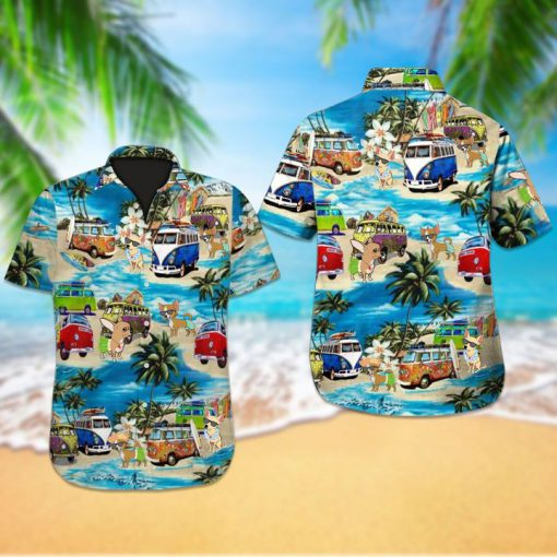 Beach hawaii chihuahua dog hawaiian shirt 2