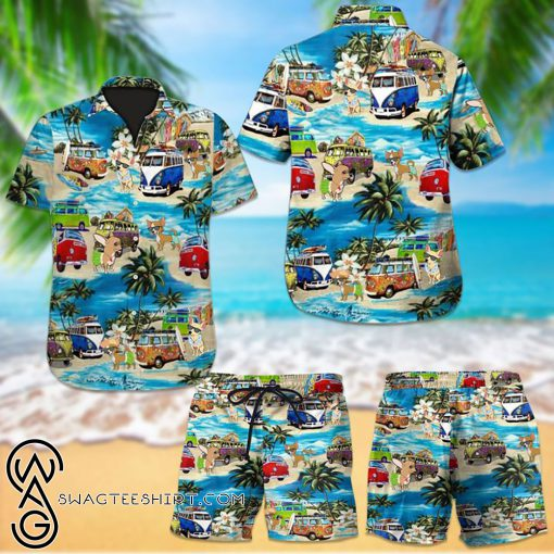 Beach hawaii chihuahua dog hawaiian shirt