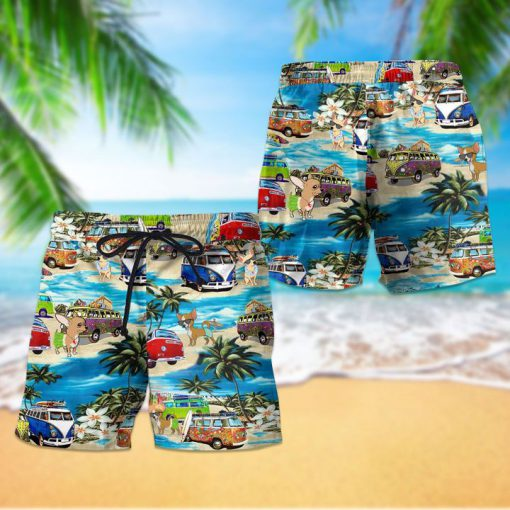 Beach hawaii chihuahua dog hawaiian shorts