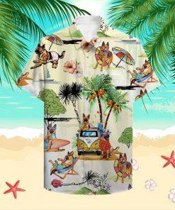 Beach hawaii german shepherd hawaiian shirt 1