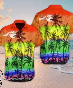 Beach hawaii lgbt hawaiian shirt
