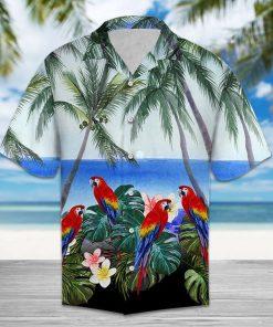 Beach hawaii parrot hawaiian shirt 2
