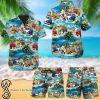 Beach hawaii pitbull dog hawaiian shirt
