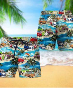 Beach hawaii pitbull dog hawaiian shorts