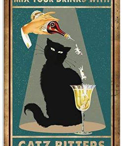 Black cat mix your drinks with catz bitters poster 3
