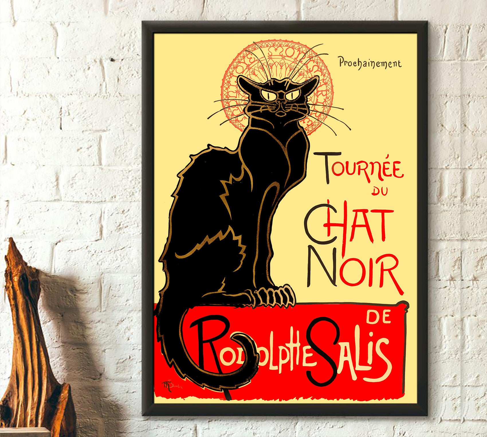 Black cat rodolphe salis le chat noir poster 2
