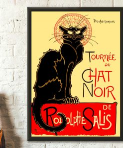 Black cat rodolphe salis le chat noir poster 3