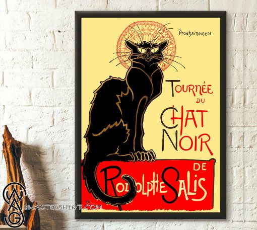 Black cat rodolphe salis le chat noir poster
