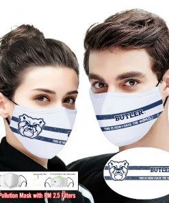 Butler bulldogs this is how i save the world face mask 1