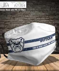 Butler bulldogs this is how i save the world face mask 4
