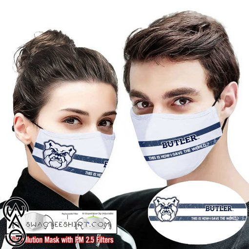 Butler bulldogs this is how i save the world face mask