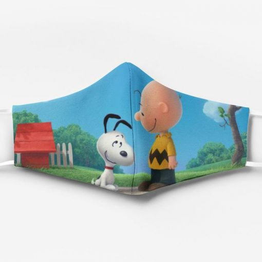 Charlie brown and snoopy full printing face mask 1