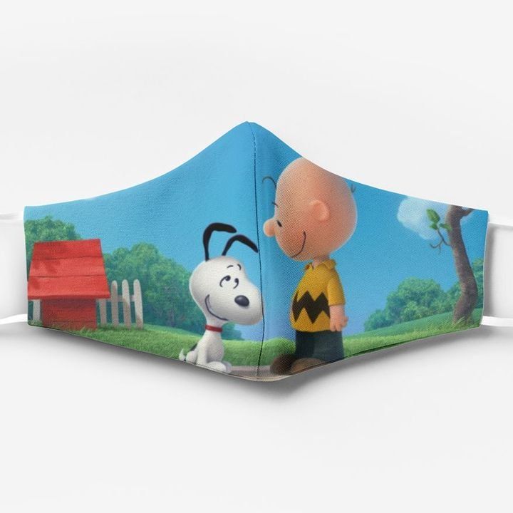 Charlie brown and snoopy full printing face mask 2