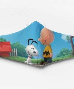 Charlie brown and snoopy full printing face mask 4