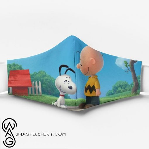 Charlie brown and snoopy full printing face mask