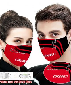 Cincinnati bearcats this is how i save the world face mask