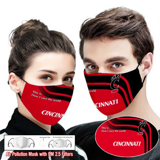 Cincinnati bearcats this is how i save the world face mask 2
