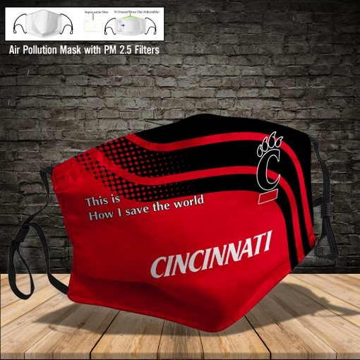 Cincinnati bearcats this is how i save the world face mask 3