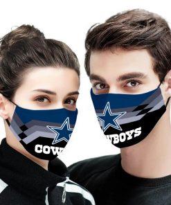 Dallas cowboys team anti pollution face mask 1
