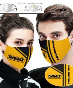 Dewalt guaranteed tough logo full printing face mask 1