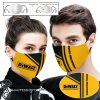 Dewalt guaranteed tough logo full printing face mask