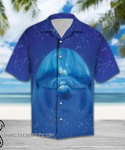 Dolphin face hawaiian shirt