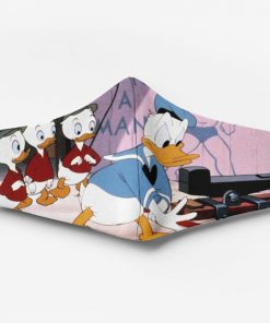 Donald duck and his nephews full printing face mask 1