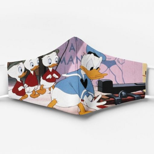 Donald duck and his nephews full printing face mask 2
