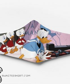 Donald duck and his nephews full printing face mask