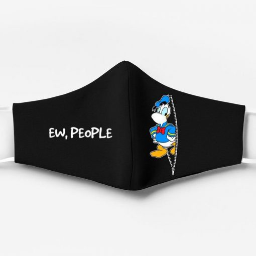 Donald duck ew people full printing face mask 1