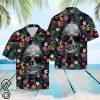 Floral skull tropical hawaiian shirt