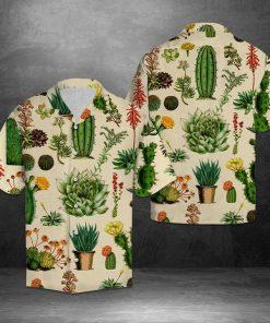 Flower cactus hawaiian shirt 1
