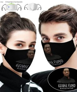 George floyd justice for floyd full printing face mask 1
