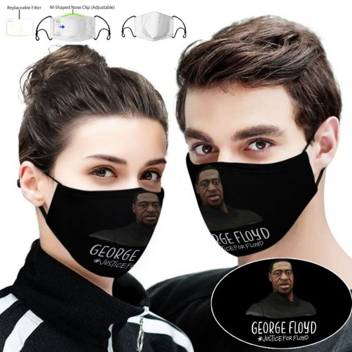 George floyd justice for floyd full printing face mask 2